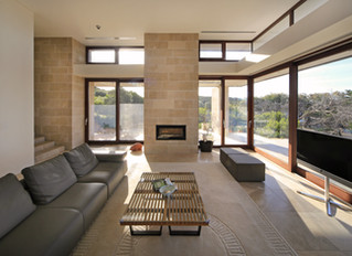 Amande Limestone is the perfect fit for this architectural masterpiece on Victoria's Mornington Peni
