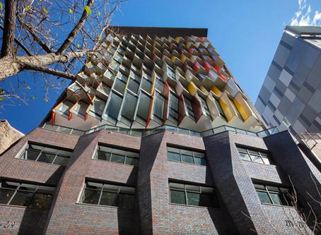 Kaz Tower's unique façade sets a high benchmark for contemporary CBD streetscapes