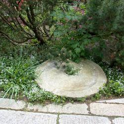 Antique Pewter Granite mill wheel
