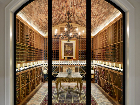 Antico Casale brick tiles set a new benchmark in high end wine cellar design