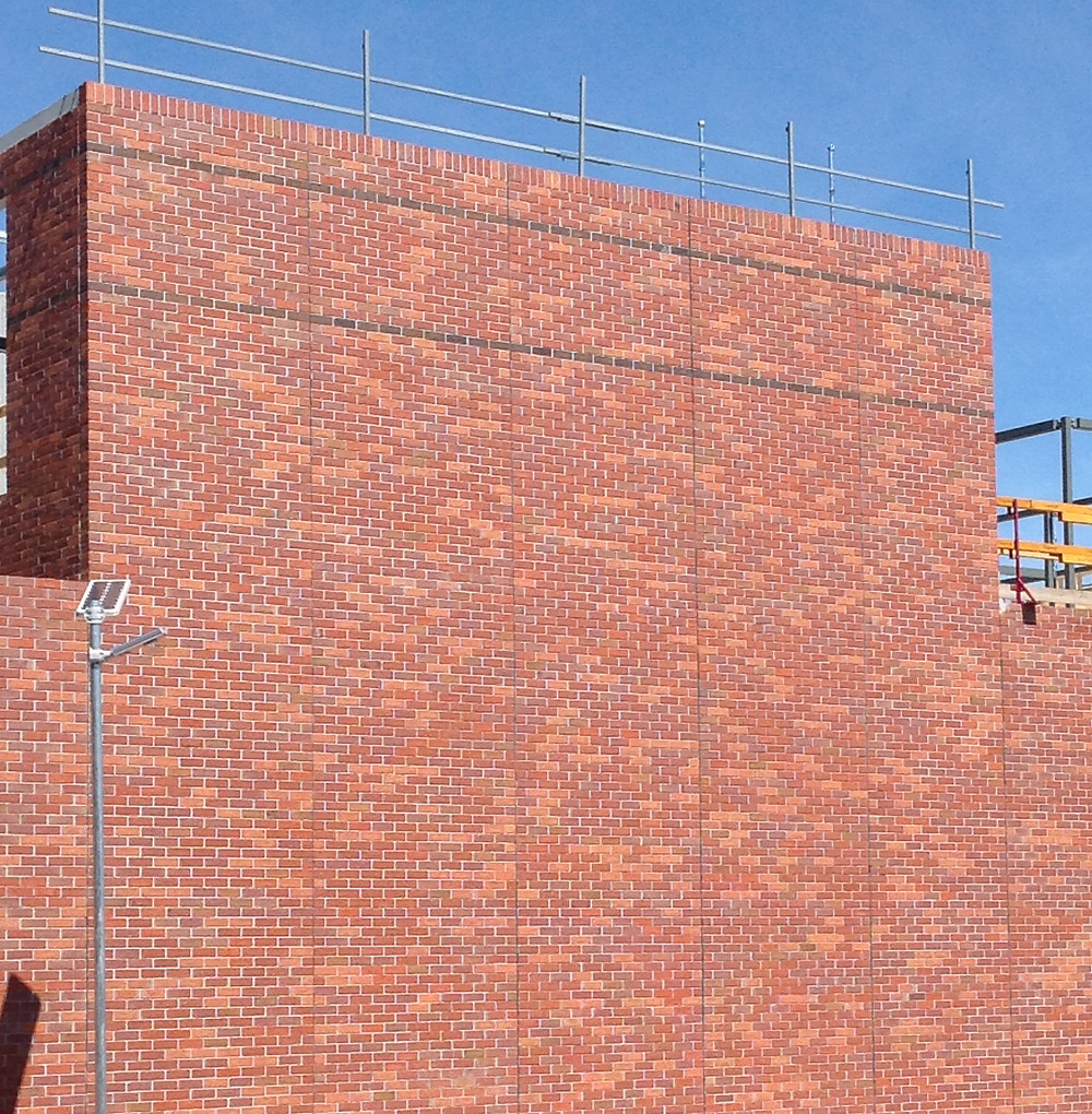 Robertson Facade's brick inlay system