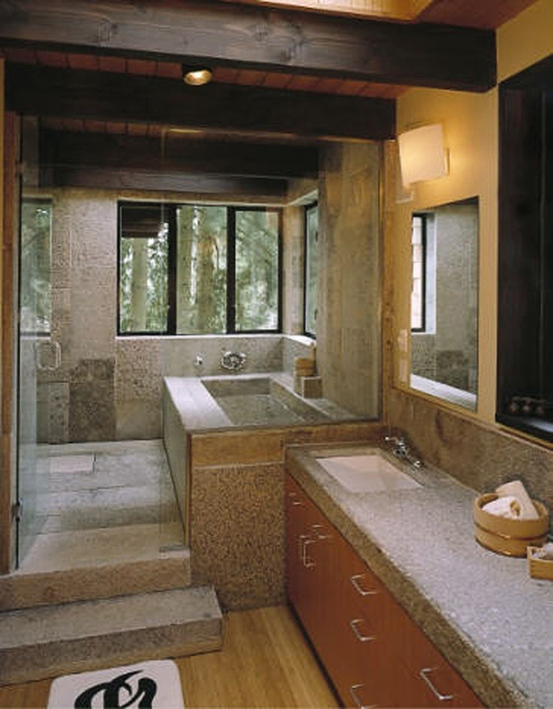 Antique Pewter Granite bathroom