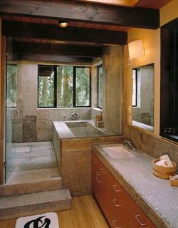 Antique Pewter Granite bathroom