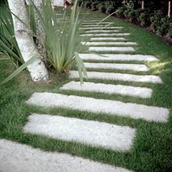 Antique Pewter Granite garden paving