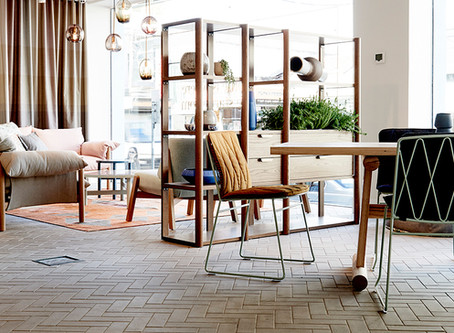 Ash Grey brick tiles are the perfect complement to Jardan's flagship store