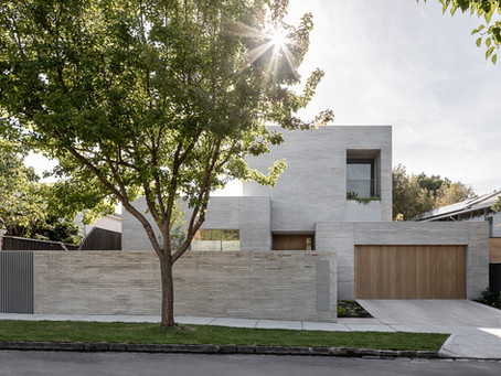 Krause Emperor bricks add a monolithic sense of calm to House Around a Pond