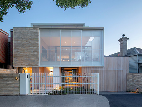 Krause Emperor Ghost bricks complement the bold forms in this South Melbourne home