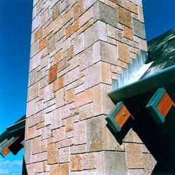 Antique Salmon Granite chimney