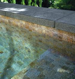 Antique Salmon Granite pool tiles