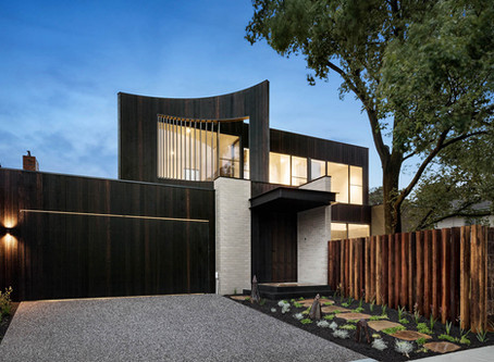 Ash Grey brick tiles add warmth and texture to Reid House
