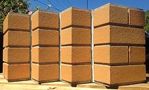 Custom brick inlay facade, thin brick tiles