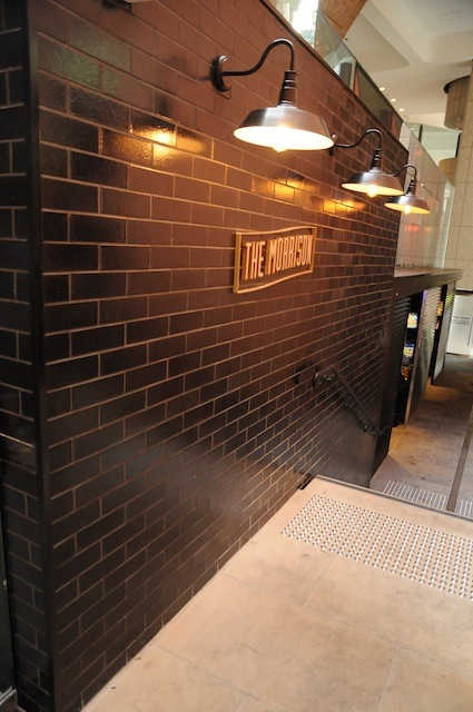 Black Glazed thin brick tiles