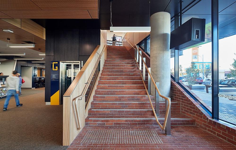 Brick Inlay Facade Staircase