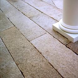 Antique Salmon Granite paving
