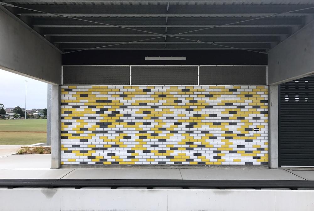 Robertson Facade Systems brick inlay system using glazed brick tiles