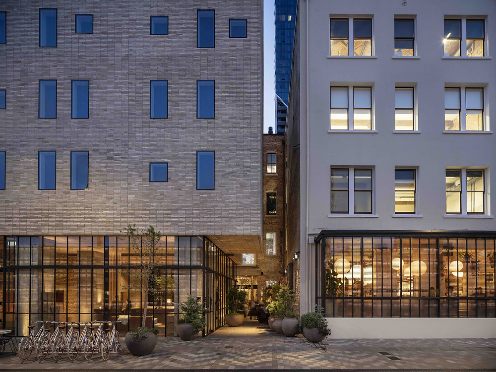 Brick Inlay proves to be the best choice to create The Hotel Britomart brick facade.