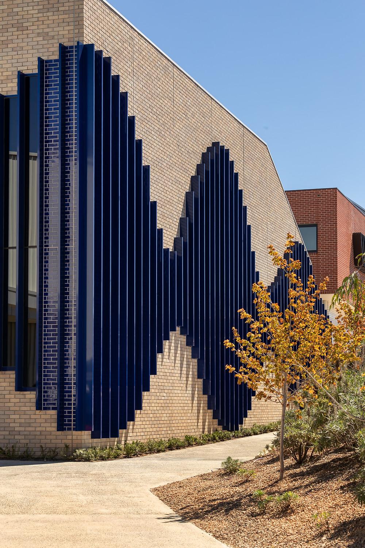 Brick inlay Facade, St Francis Xavier College