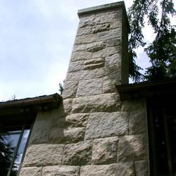 Golden Dune Granite chimney