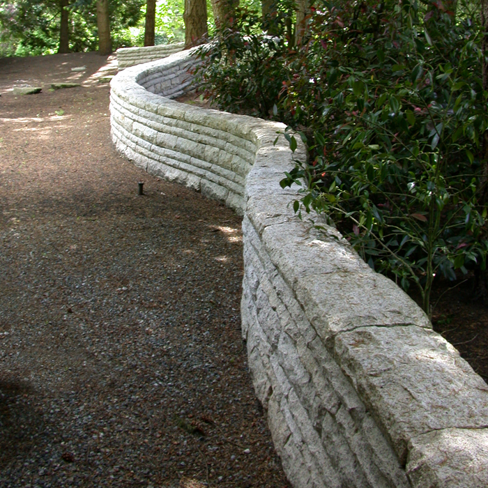 Dune Granite Retaining Wall