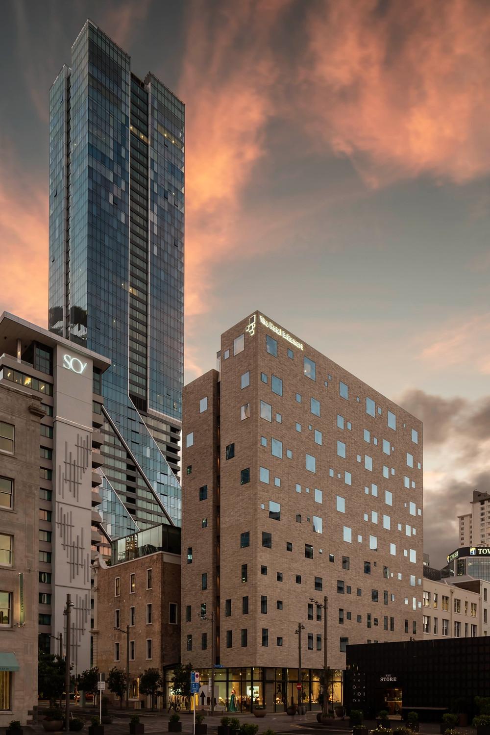 Brick Inlay has created a spectacular full brick facade for The Hotel Britomart
