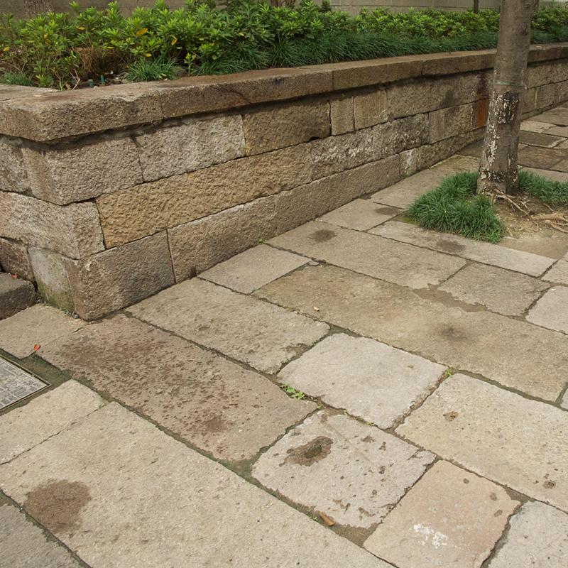 Antique Highland Porphyry courtyard