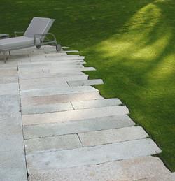 Antique Pewter Granite courtyard