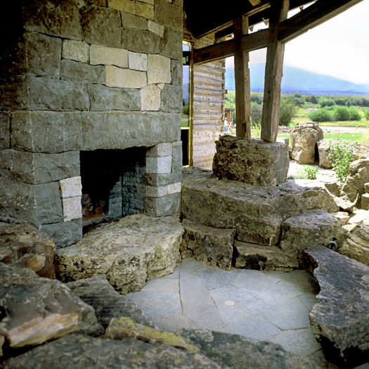 Newly quarried & antique stone blend