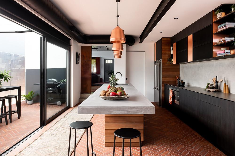 Rustic Red Brick Tiles, Floor, Claremont House
