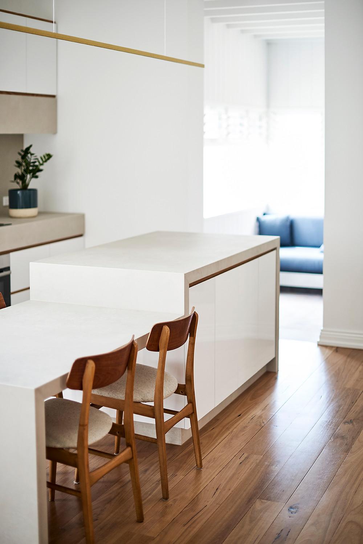 St Kilda Apartment, brick tiles, floor solution