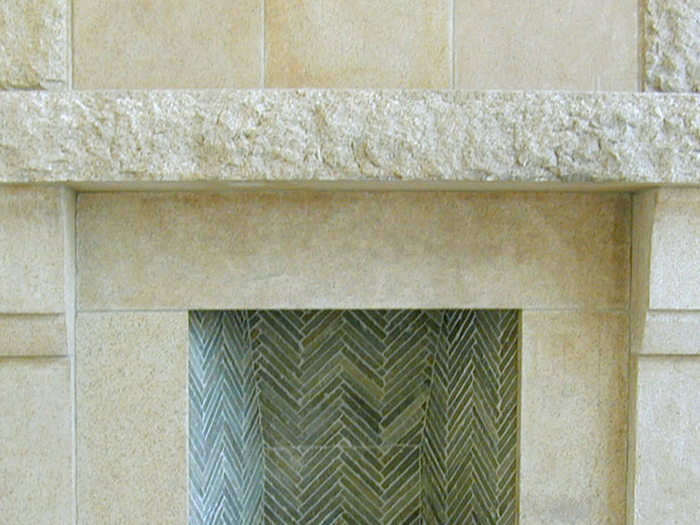 Dune Granite Fireplace