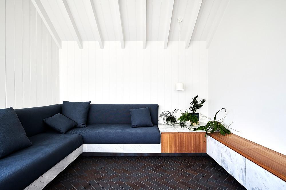 Iron Mountain brick tiles, Dan Gayfer Design sunroom