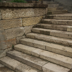 Antique Highland Porphyry stairs