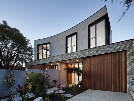 Petersen D91 bricks imbue contemporary Caulfield South townhouses with quality and character