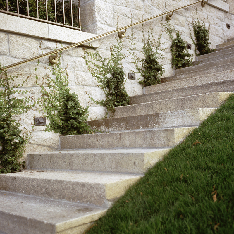 Antique Salmon Granite staircase