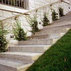 Antique Salmon Granite staircase