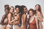 Smooth skinned multi-ethnic women