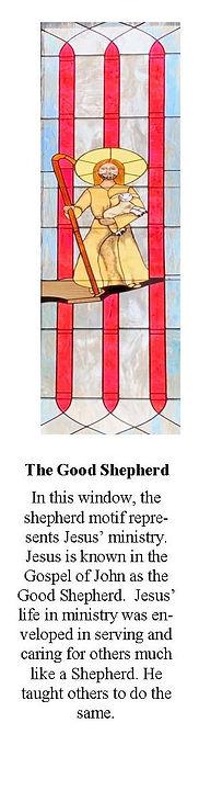 Stain Glass Windows 3 The Good Shephard.