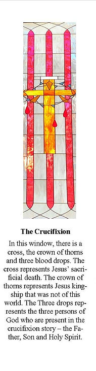 Stain Glass Windows- 5 The Cruisifixtion