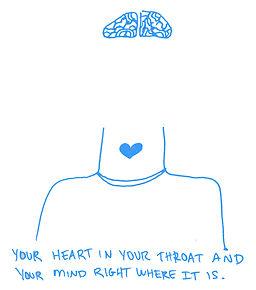 heart throat drawing