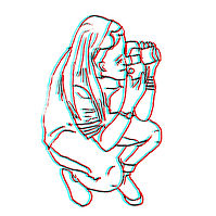 me and a camera drawin
