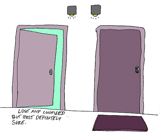 two doors drawing