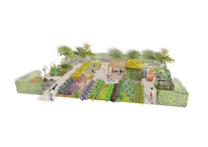 Kitchen Garden RHS Hampton Court Palace Flower Show 2018