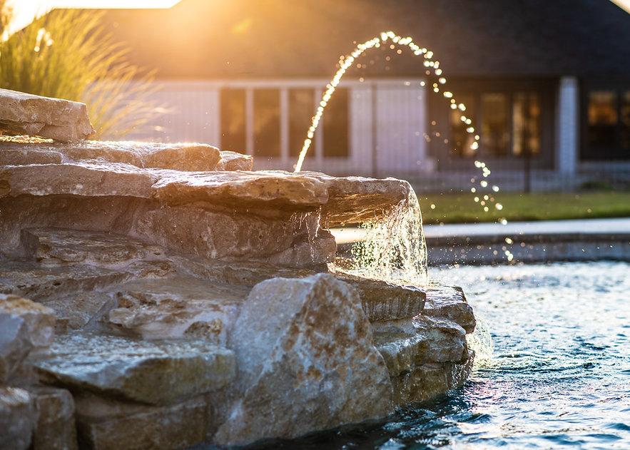 Hopkins Custom Pools Water Features