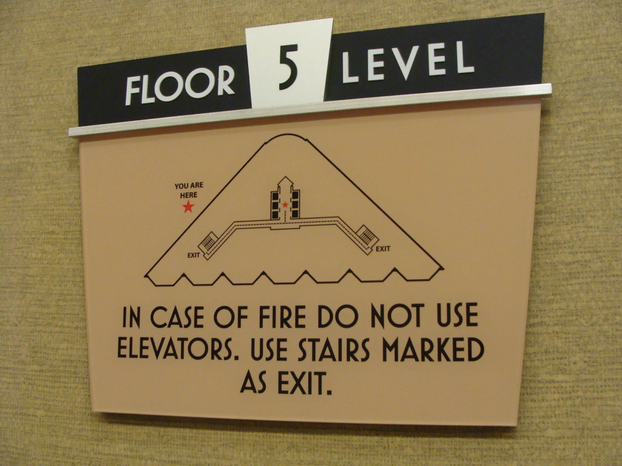Floor level sign Canal Centre