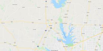 Denton TX Map
