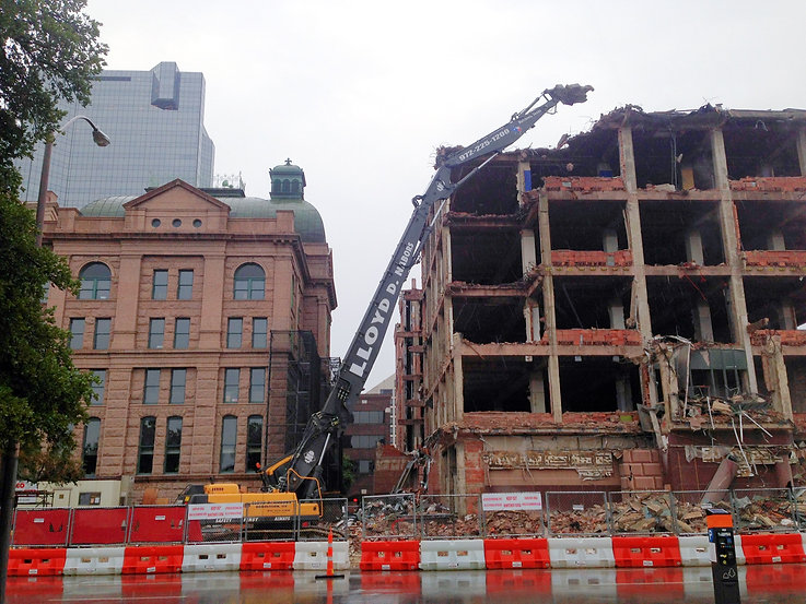 Tarrant county courthouse demolition fort worth