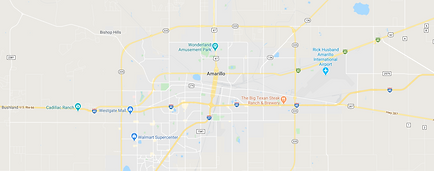 Amarillo TX City Map