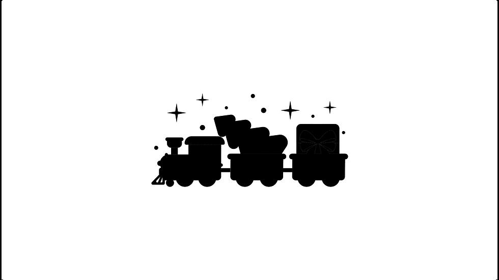 Christmas Train Decal