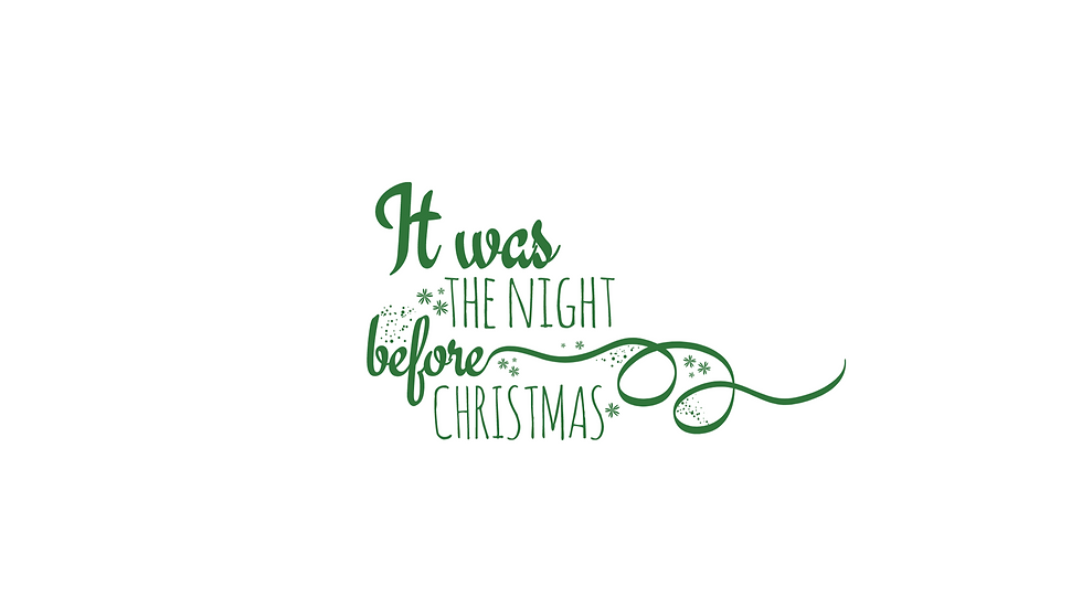 Night before Christmas Decal