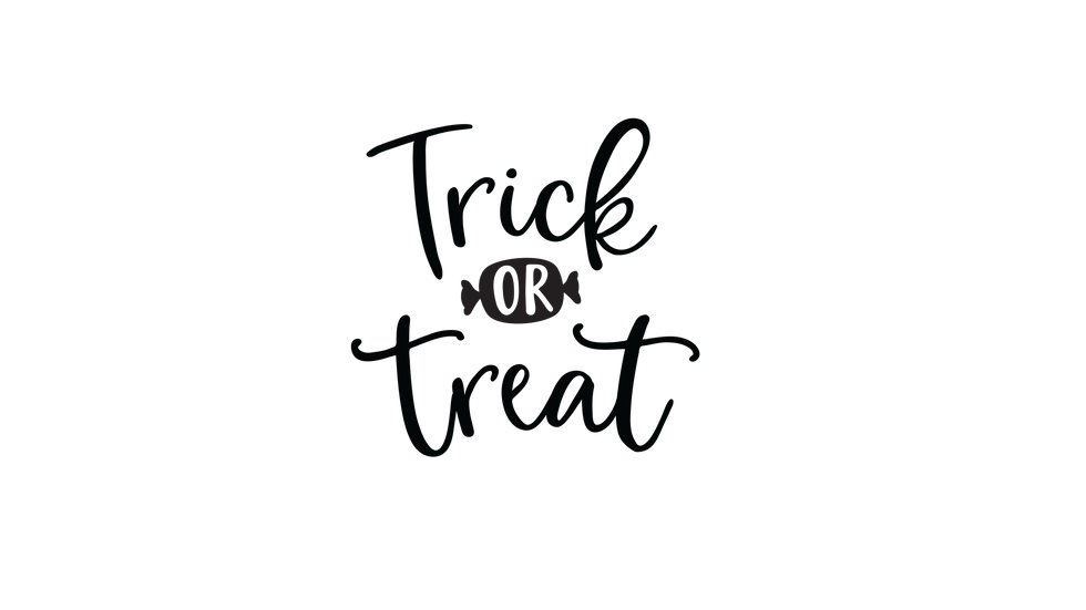 Trick or Treat Sign Decal